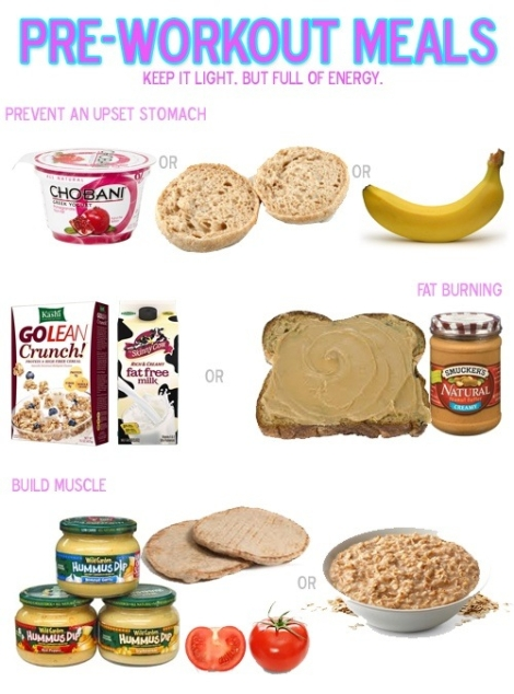 pre workout meals